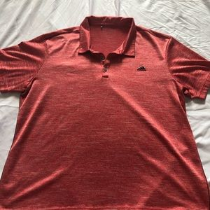 Adidas Red Heathered Polo
